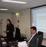 Dr Sonja van Wichelen introducing Professor Terry Flew.