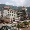 Heavily damaged school in Yingxiu, Sichuan, China.