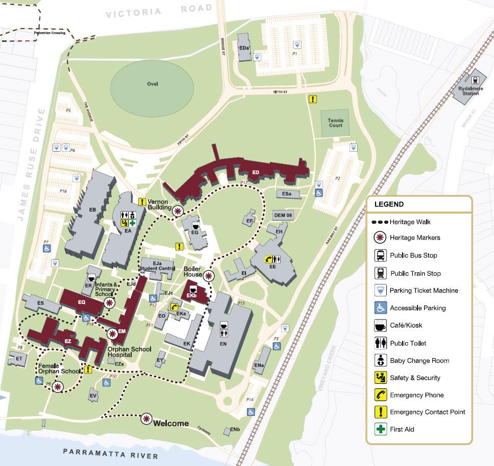 Heritage Walk Map Image