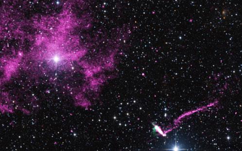 Runaway Pulsar Image