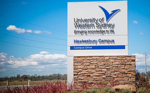 Hawkesbury campus sign