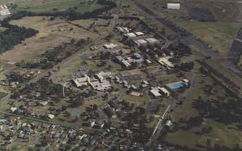 Aerial view of Nirimba (Black town Campus University of Western Sydney Hawkesbury) 10 September 1996