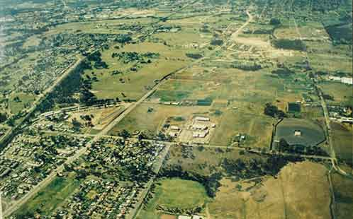 P5638 Construction of Werrington North Campus - Aerial Photograph of the Site 1988