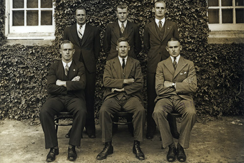 Student Representative Council1937 - EA Southee (Principal) seated centre front [Hawkesbury Agricultural College (HAC)] P1276