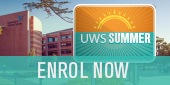 Enrol now for UWS Summer