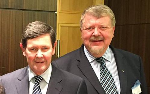 Dr Ozdowski with Minister Andrews
