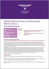 Thumbnail image of the Digital Infrastructures masterclasses program.