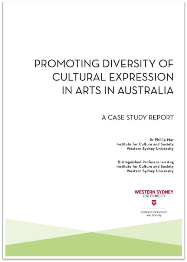 Screen grab of the Promoting Diversity of Cultural Expression report