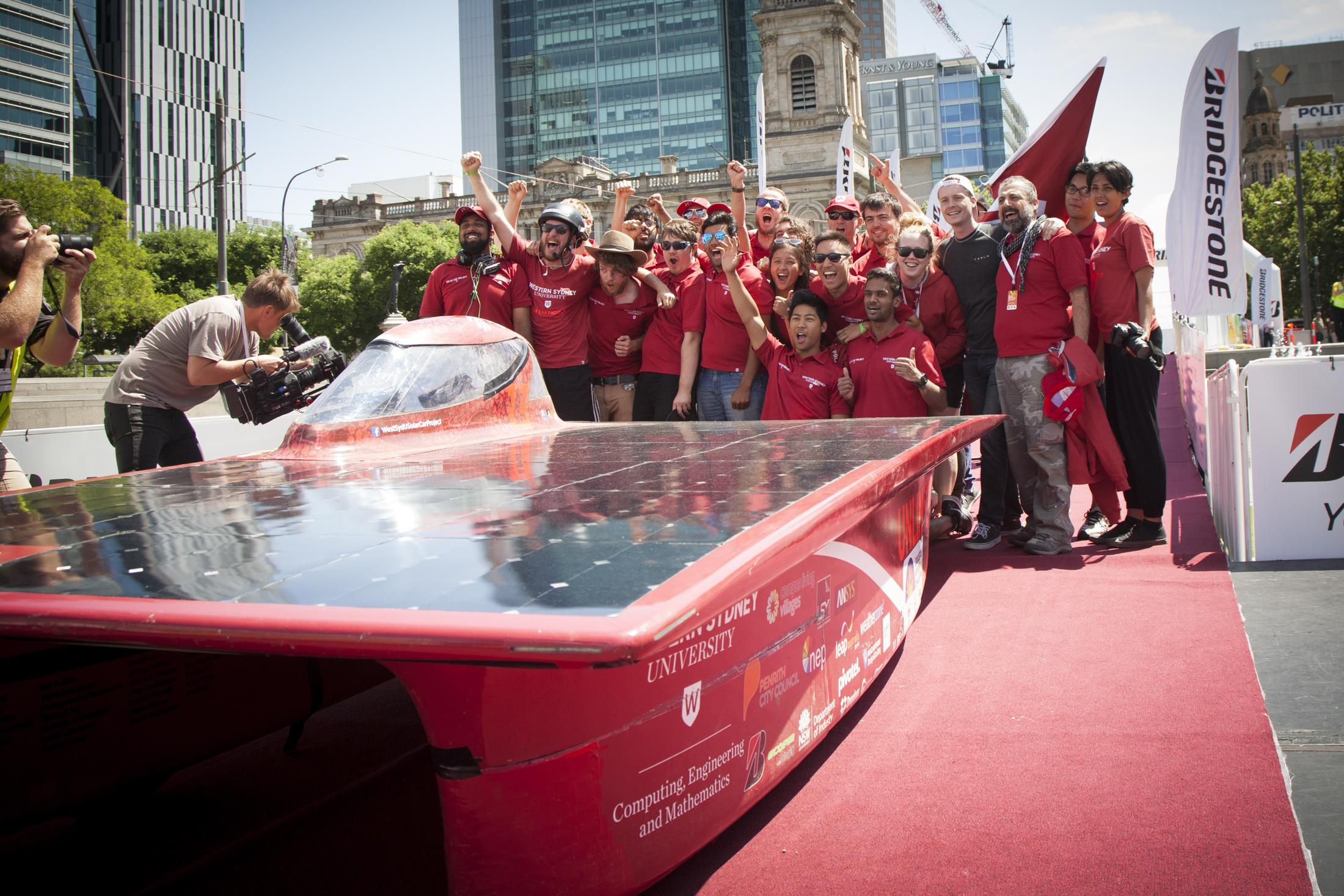 Solar Car Finish
