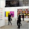 Thumbnail of visitors at an art gallery.