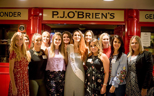 Emily Gorry with Rose of Tralee finalists