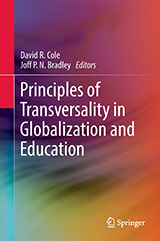 Cover of Principles of Transversality in Globalization and Education with abstract multi-coloured image.