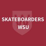 Skateboarders WSU