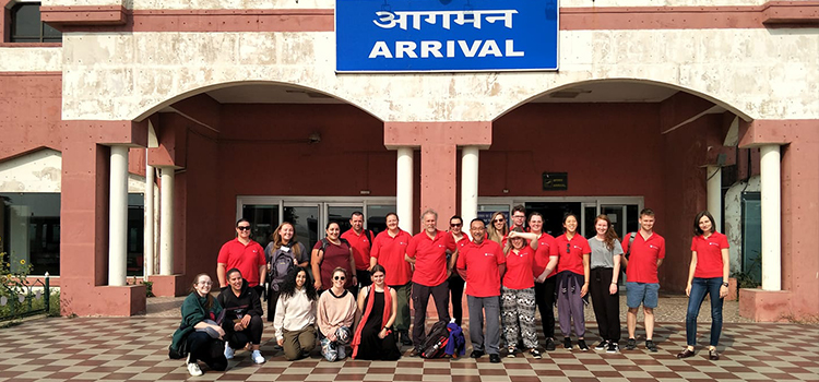 WSU Group at Lucknow Airport