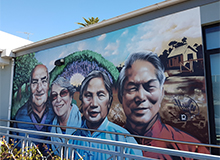 Mural of 4 faces