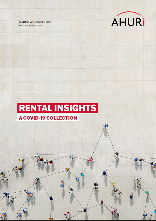 Rental Insights: A COVID Collection cover with an aerial view of people connected by lines.