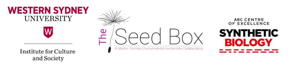 WSU, Seed Box and Synthetic Biology Logos