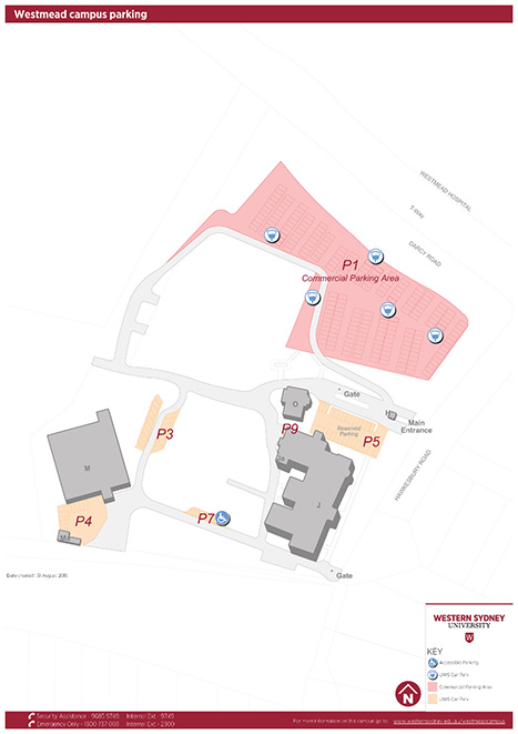 Westmead precinct parking map