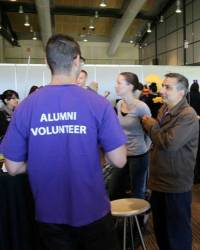 Alumni Volunteers at Education Expo