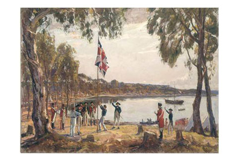The Founding of Australia, Jan. 26th 1788, by Captain Arthur Phillip, Sydney Cove, 1937