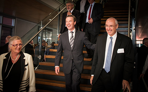Kerry Hudson, Christopher Pyne, Barney Glover