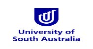 Blue and white logo