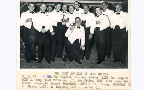First Officers of HMAS Nirimba 1956