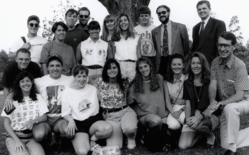 Group of Students - First intake of Canadian Students for Teaching - Faculty of Education 1994 (P2989)