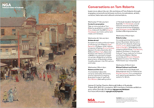 Flyer for 'Conversations on Tom Roberts'