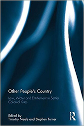 Cover of Other People's Country with blue and white Routledge swirl pattern.