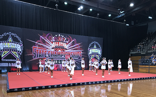 Western Sydney University Cheerleading squad at the All Star Cheerleading State Championships