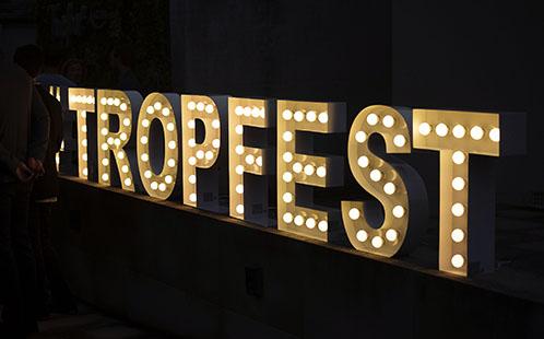 Tropfest sign