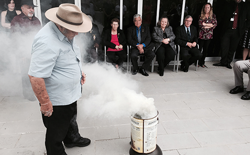 A traditional smoking ceremony at the Parramatta Youth Koori Court