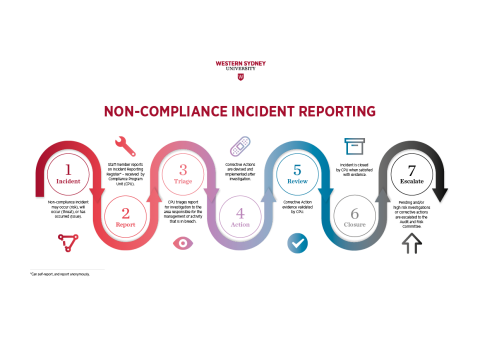Non-Compliance Incident Reporting process flow