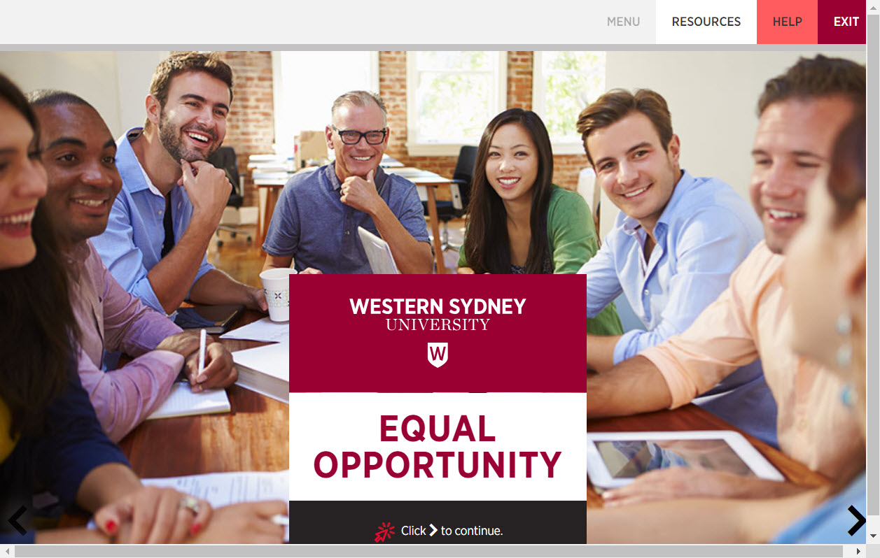 Equal Opportunity Training Page Image