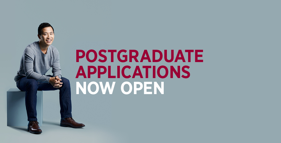Postgraduate Applications now open