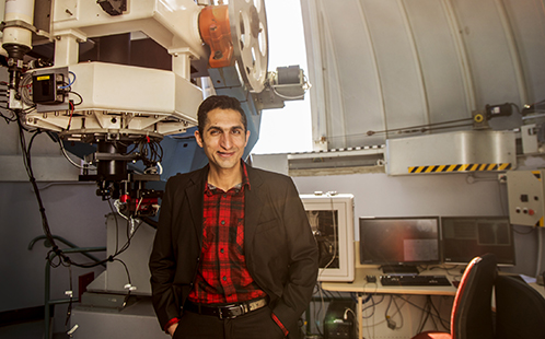 Refugee researcher Rami Alsaberi at the Penrith Observatory