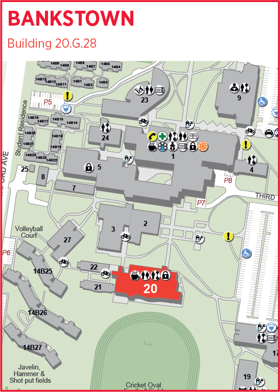 Map showing Academy Learning Zone at Bankstown Campus