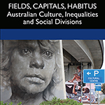 Section of the Fields, Capitals, Habitus cover featuring murals under a motorway