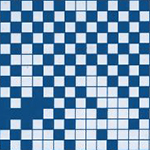 Abstract image of small blue and white squares
