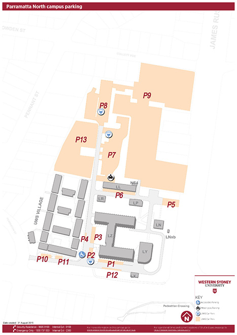 Parramatta North campus parking map