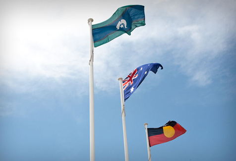 Torres Strait Islander, Australian and Aboriginal flags