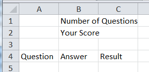 Creating a quiz in Excel | Western Sydney University