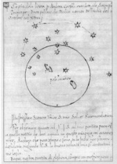 Andrea Corsali's drawing of the Southern Cross. SLNSW