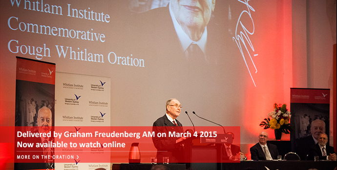 Whitlam Institute Commemorative Oration