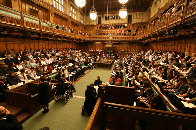 Image of members taking their seats in the House of Commons