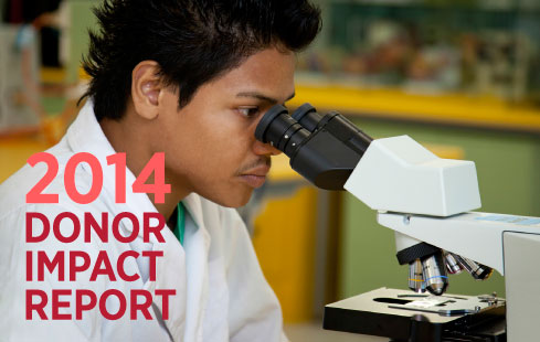 Read the 2014 Donor Impact Report