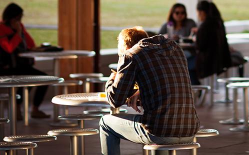 Man sitting in sun