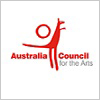 Australia Council for the Arts logo with red kangaroo symbol.