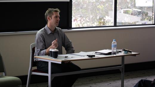 Matt McGuire Presenting His Paper